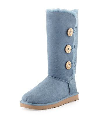 Bailey Button Short Boot, Dolphin Blue