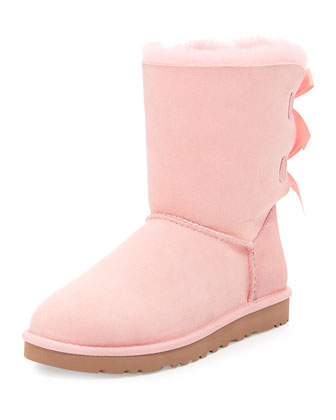 Bailey Bow-Back Short Boot, Baby Pink
