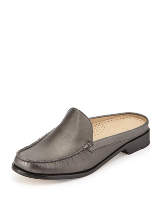 Ryann Metallic Mule Slide, Gunsmoke