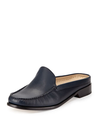 Ryann Leather Mule Slide, Blazer Blue