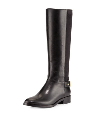 Adler Leather Riding Boot, Black