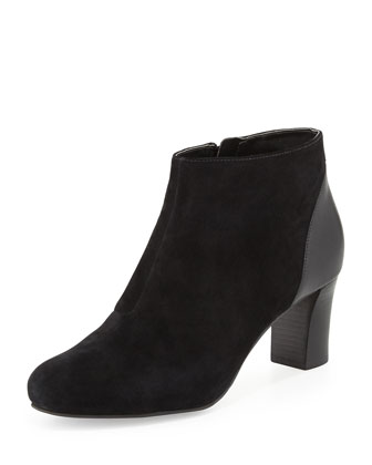 Miriam Suede Ankle Boot, Black