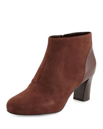 Miriam Suede Ankle Bootie, Chestnut