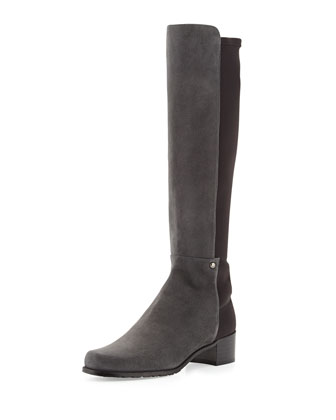 Mezzamezza Suede Knee Boot, Smoke