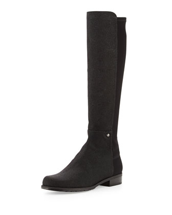 Coast Mezzamezza Pindot Knee Boot, Black (Made to Order)