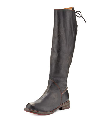 Manchester Laced-Back Knee Boot