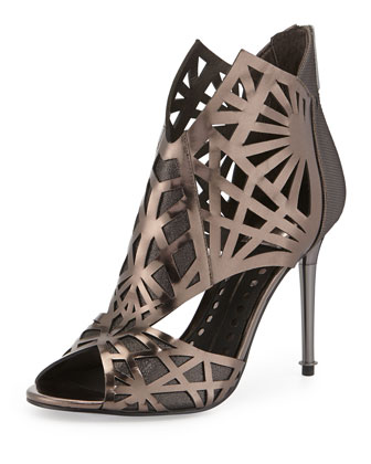Hadrian Laser-Cut Leather Sandal