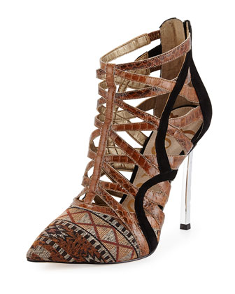 Sam Edelman Sydney Strappy Pump, Orange Multi
