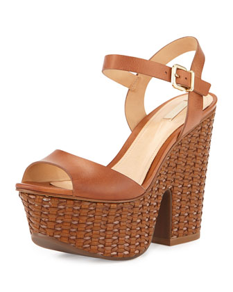 Schutz Itauba Natural Leather Wedge