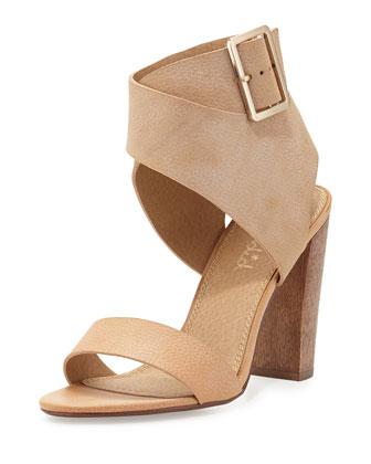 Jayla High-Heel Sandal, Nude