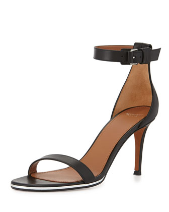 Nadia Leather Ankle-Strap Sandal