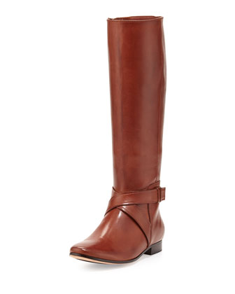 Russell Leather Knee Boot, Sequoia