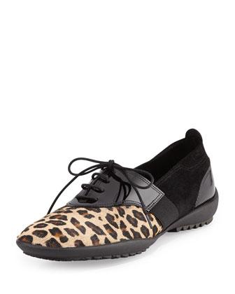Alexia Calf Hair Sneaker, Camel