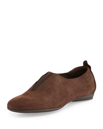 Ally Nubuck Slip-On Sneaker, Moro Brown