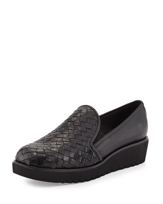 Allix Woven Slip-On Loafer, Black