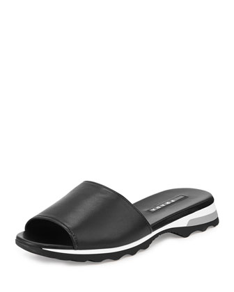 Napa Open-Toe Slide, Nero