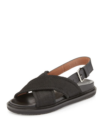 Crisscross Slingback Sandal, Coal