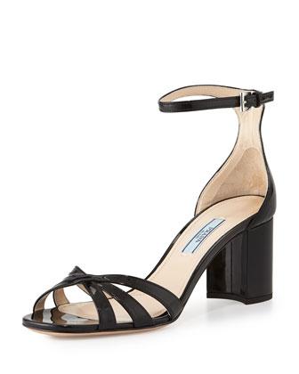 Patent Whisker Sandal, Black (Nero)