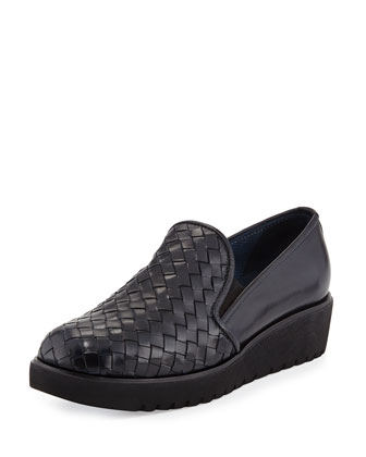Allix Woven Slip-On Loafer, Navy