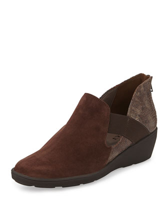 Merely Snake-Print Bootie, Moro Brown
