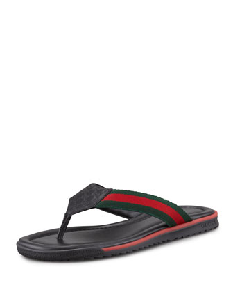 GG Beach Thong Sandal, Black