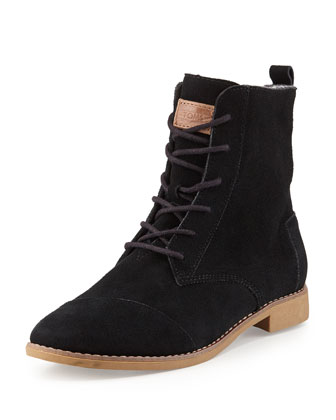 Alboot Suede Ankle Boot, Black