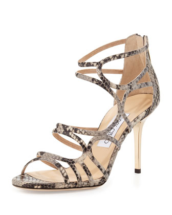 Summit Snake-Print Strappy Sandal