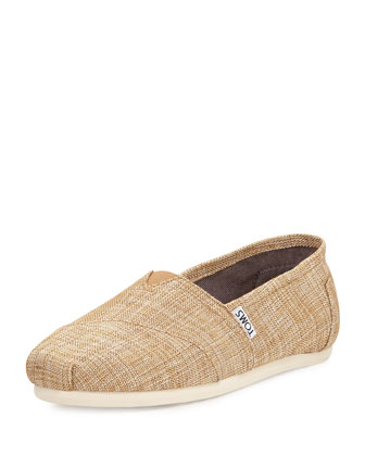 Metallic Burlap Slip-On