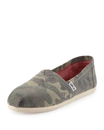 Canvas Classic Slip-On, Washed Camo