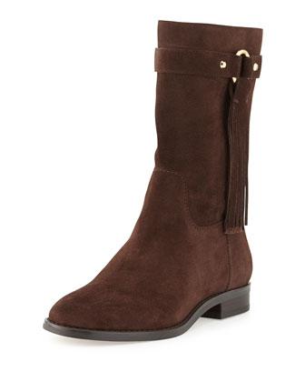 Rhea Suede Fringe Boot