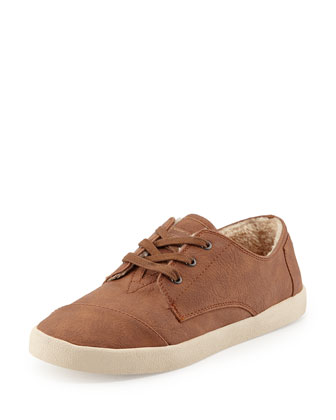 Paseos Faux-Leather Sneaker, Chestnut