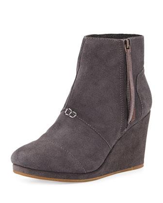 High-Wedge Desert Boot, Gray