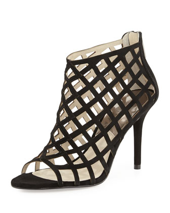 Yvonne Suede Cage Bootie