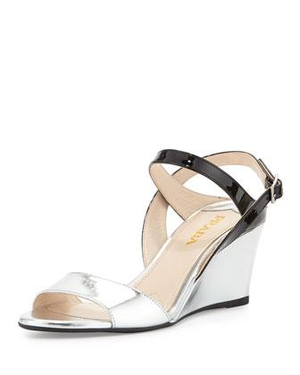 Specchio/Vernice Wedge Sandal