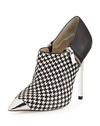 Zady Houndstooth Bootie