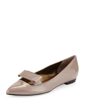 Patent Pointed Buckle Flat