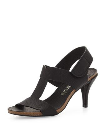 Marlen T-Strap Sandal, Black