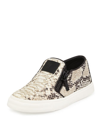 Python-Print Double-Zip Slip-On