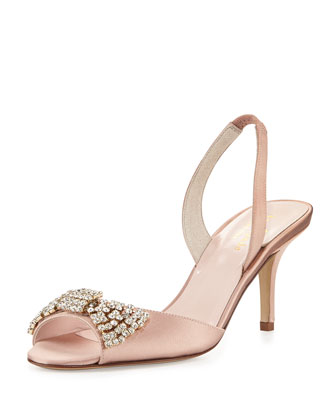 miva satin halter pump