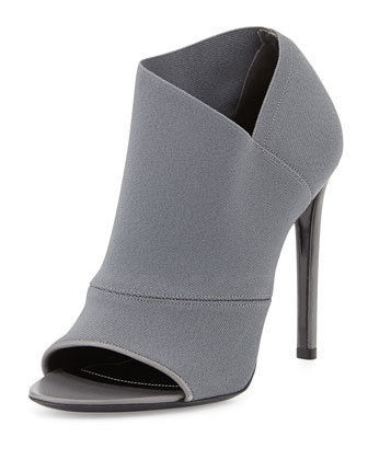 Stretch Open-Toe Bootie