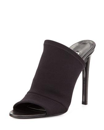 Neoprene Mule Sandal, Black