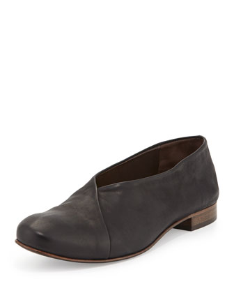 Iris Leather Ballet Flat, Black