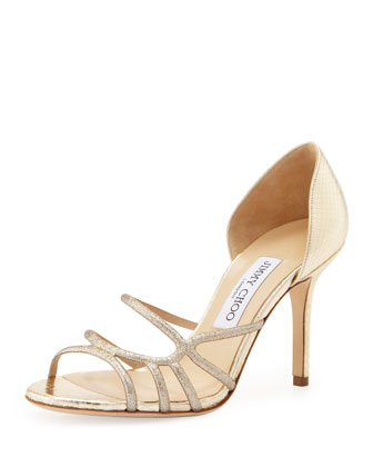 Straits Glittered Strappy d'Orsay Sandal