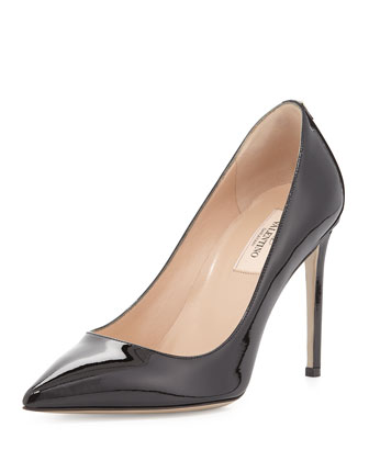 Patent Point-Toe Pump, Black