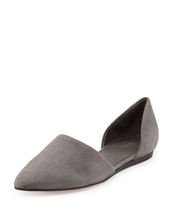 Nina Two-Piece Suede Skimmer, Graphite