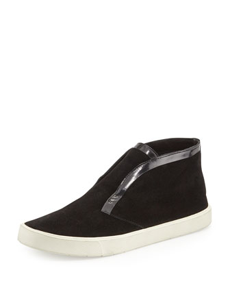 Patton Suede Slip-On Sneaker, Black
