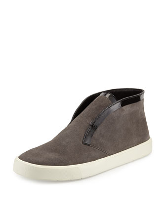 Patton Suede Slip-On Sneaker, Graphite