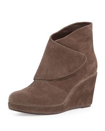 Henrietta Wedge Ankle Boot, Dark Gray