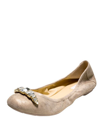 Manhattan Jewel Ballerina Flat, Maple Sugar