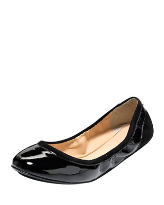 Avery Patent GRAND/OS Ballerina Flat, Black
